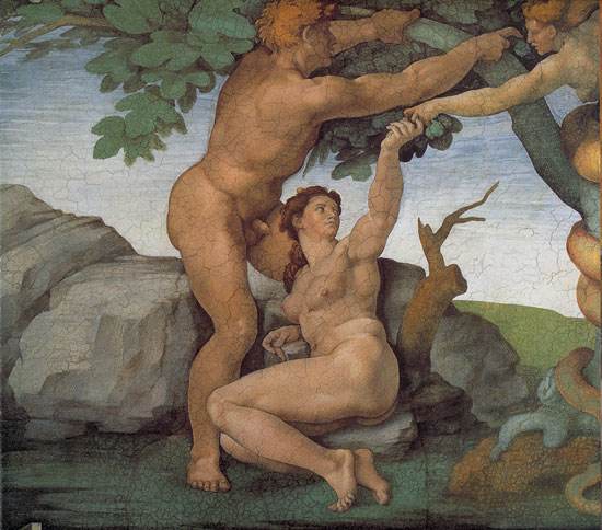 Michelangelo's Adam and Eve