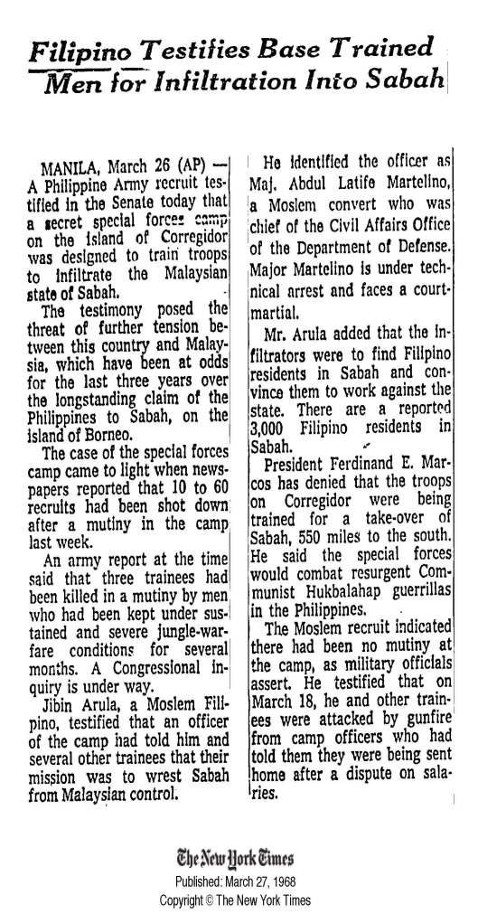 sabah news 1968