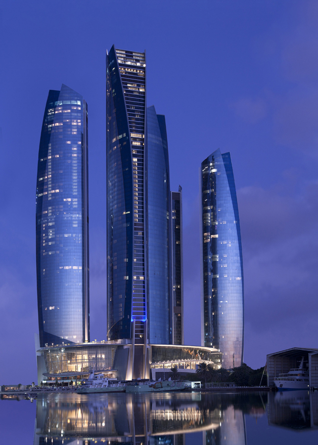 etihad-tower-2-abu-dhabi-tallest residential buildings